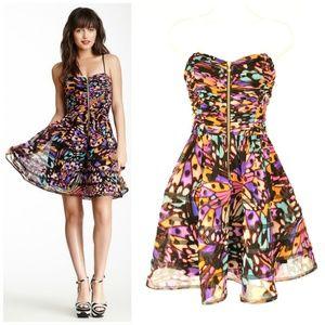 BETSEY JOHNSON Fit & Flare Butterfly Dress